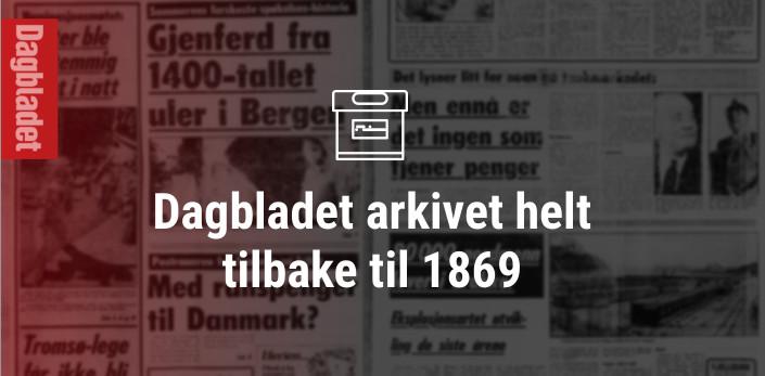 Dagbladet arkivet